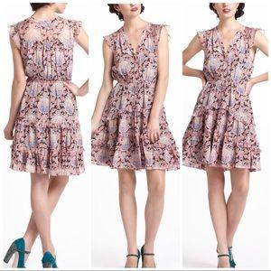 Anthropologie Pastel Paisley Dress